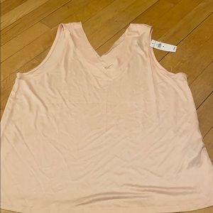 Blush pink sleeveless top